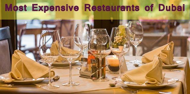 The Most Expensive Restaurants located in Dubai